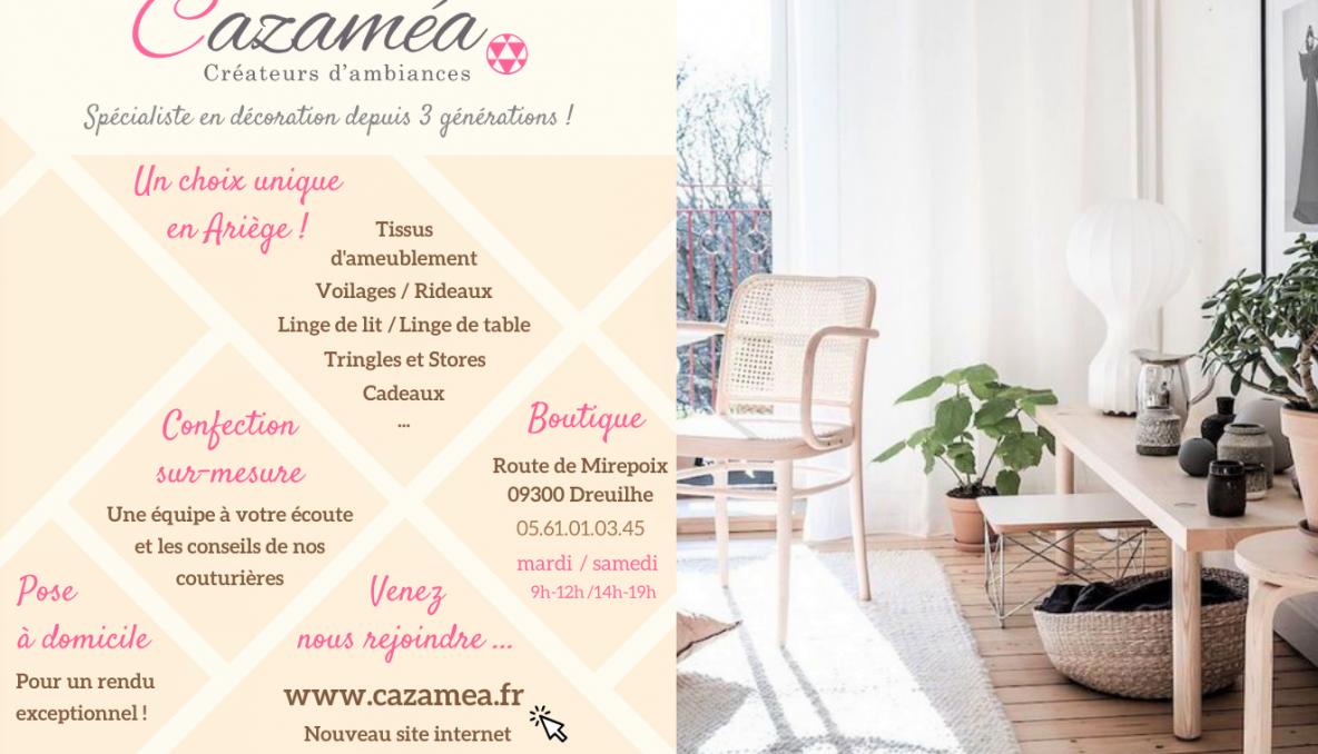 Site Internet Decoration Intérieure cazaméa - votre spécialiste tissus et décoration d'intérieur