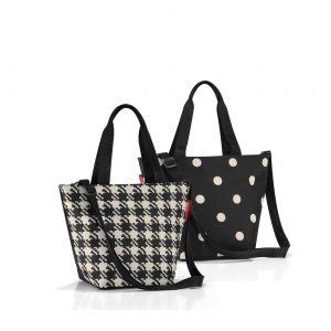 Sac modèle shopper XS motif fifties couleur noir
