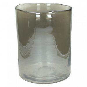 Vase photophore couleur argenté grand modèle