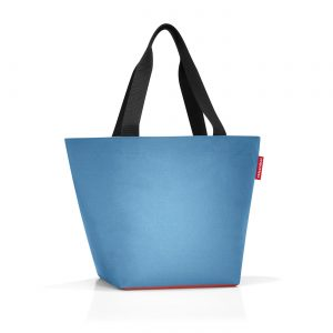 Sac modèle shopper M couleur bleu/orange