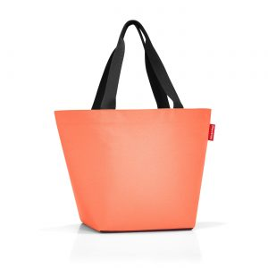 Sac modèle shopper M couleur orange/aubergine