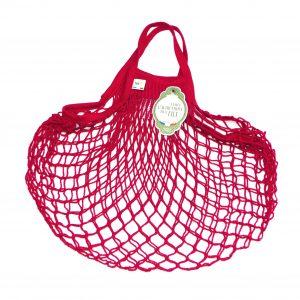 Filet à provisions marque Filt, petit modèle, couleur rouge cerise