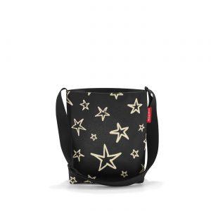 Sac à bandoulière modèle Shoulderbag taille S motif étoile couleur noir et or