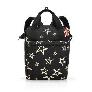 Sac à dos modèle allrounder R motif étoile, couleur noir et or