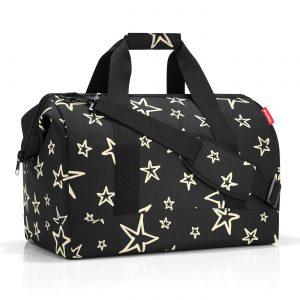 Sac de voyage modèle allrounder L motif étoile, couleur noir et or