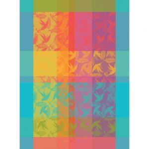 torchon mille colibris multicolore