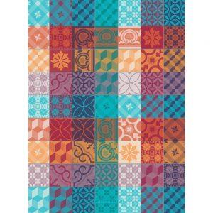 torchon motif mille tiles multicolore