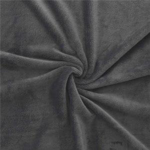 Tissus Minky uni couleur Noir