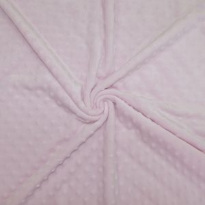 Tissus Minky pois couleur Rose