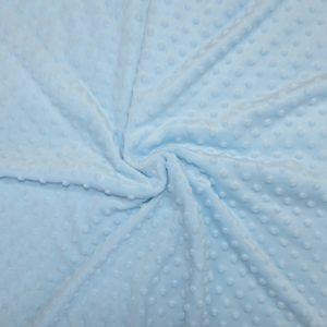 Tissus Minky pois couleur Bleu
