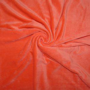 Tissus Minky uni couleur Corail