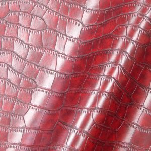 Simili Cuir modèle imitation Peau Croco couleur rouge