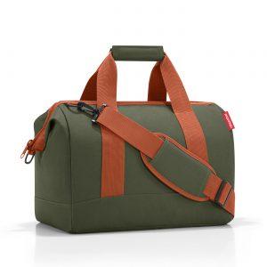 Sac de voyage modèle allrounder M motif urban forest couleur vert kaki