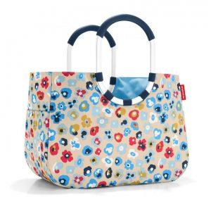 Sac Shopping modèle Loopshopper taille L motif millefleurs printemps multicolore