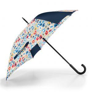 Parapluie résistant modèle millefleurs printemps multicolore