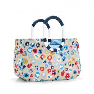 Sac Shopping modèle Loopshopper taille M motif millefleurs printemps multicolore