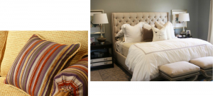 Confection sur mesure linge de lit, tête de lit