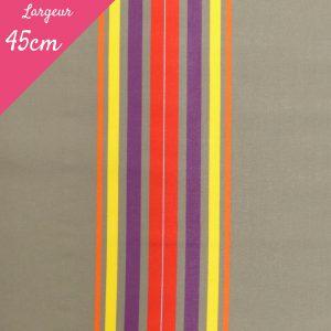 Tissu toile transat plein air motif Cap Ferret couleur rouge