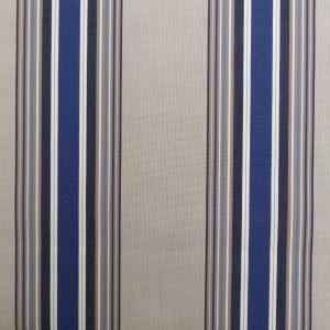 Tissu toile rayures plein air motif Croisic couleur bleu