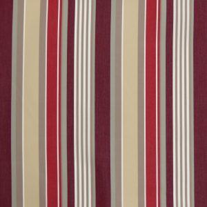 Tissu toile rayures plein air motif Elba couleur bordeaux