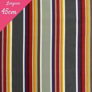 Tissu toile transat plein air motif Estoril couleur gris