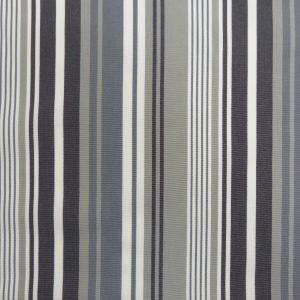 Tissu toile rayures plein air couleur gris/noir/blanc