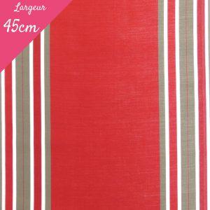 Tissu toile transat plein air motif Levant couleur rouge