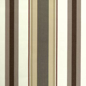Tissu toile rayures plein air motif Mentoue couleur chocolat