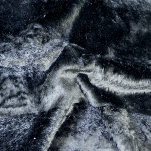 Tissu fourrure métane noir