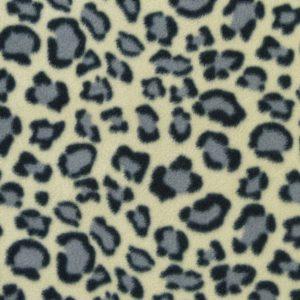 Tissu polaire fantaisie motif panthère