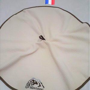 torchon rond brodé Montségur