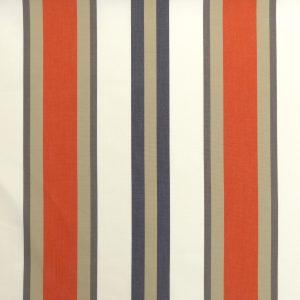 Tissu toile rayures plein air motif Tango couleur orange