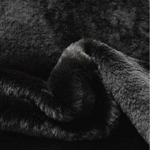 tissu fausse fourrure noire