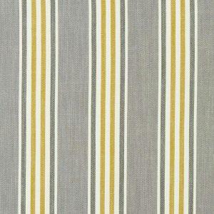 Tissu toile métis à rayures, tissé modèle quentin gris et jaune