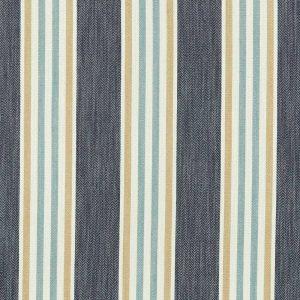 Tissu toile métis à rayures, tissé modèle quentin bleu marine