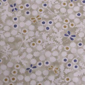 Tissu toile métis composée de coton et lin, motif imprimé berwick trail antique couleur écru