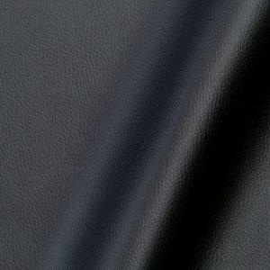 Tissu simili cuir uni couleur noir