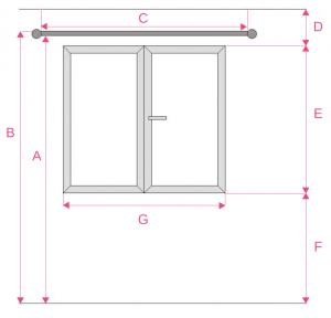 Schéma prise de mesures pour la fabrication de vos rideaux