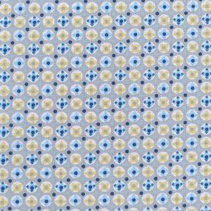 Tissu 100% coton imprimé motif avrey couleur bleu