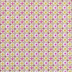 Tissu 100% coton imprimé motif avrey couleur rose