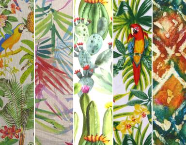 Nouvelles tendances tissus 2018 pour vos coussins et rideaux