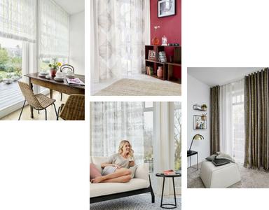 Nouvelle Collection tissus voilages pour rideaux SILHOUETTES marque allemande ADO qualité garantit