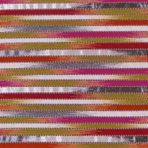 Tissu jacquard tissé en France, motifs rayures aux couleurs vives et brillantes
