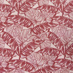 Tissu toile coton imprimé demi natté motif havana couleur lin terra