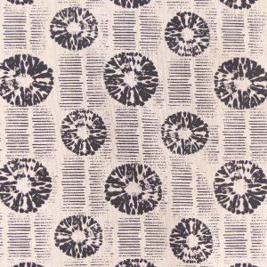 Tissu toile coton imprimé demi natté motif shosi lin noir