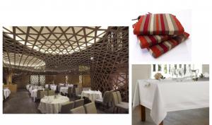 Nappe, Galettes de chaises, Chemin de table et serviette en coton, Cazaméa à Lavelanet réalise vos linges de table sur mesure