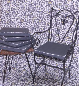 Confection sur mesure pour votre déco d'intérieur, galettes de chaise