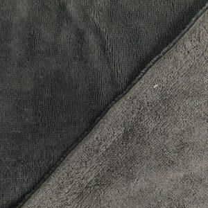 tissu microfibre eponge bambou oeko-tex coloris gris anthracite