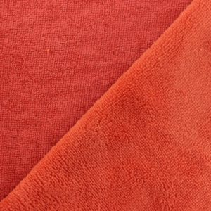 tissu microfibre eponge bambou oeko-tex coloris paprika