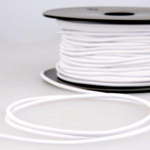 élastique rond à chapeau blanc